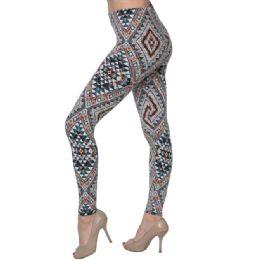 36 Bulk Fashion Tribal Print Leggings
