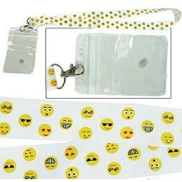 288 Units of Emoji Lanyard And Id Holders - ID Holders