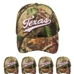 24 Units of Hunting Cap Camo (texas) Velcro Adjustable - Hunting Caps