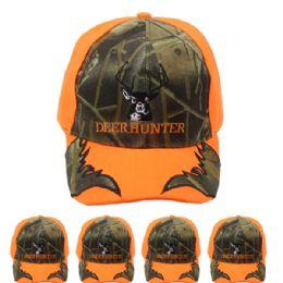 24 Units of Hunting Cap Camo deer Hunter Velcro Adjustable Back - Hunting Caps