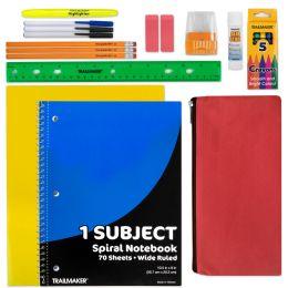 24 Bulk 20 Piece School Supply Kit