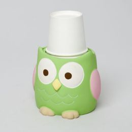 48 Units of Cup Dispenser Love And Nature Owl Resin Rubber Finish - Bathroom Accessories