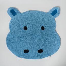 20 Units of Bathroom Rug Safari Tufted Blue Hippo - Bathroom Accessories