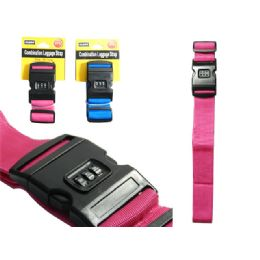 24 Units of Luggage Strap With Combination Lock - Travel & Luggage Items
