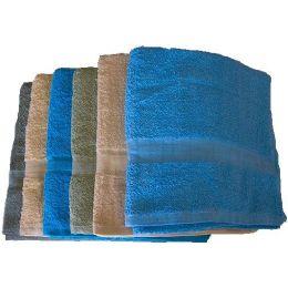 36 Units of 27x52 Solid Bath Towel 10.5lb - Bath Towels