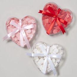 48 Units of Box W/ribbon Red/pink/white Tray Dis W/hangtag - Bows & Ribbons