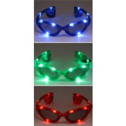 24 Units of Light Up Party Glasses - Novelty & Party Sunglasses