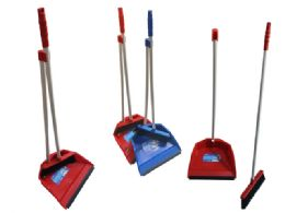 24 Units of Dustpan With Brush - Dust Pans