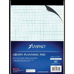 36 Units of Ampad Letter Size Quad Pad, 80 Sheets, White - Sketch, Tracing, Drawing & Doodle Pads