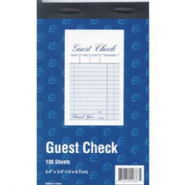 """60 Units of Guest Check Book - 5.4"""" X 3.4"""" - 100 Sheets - Sales Order Book"""