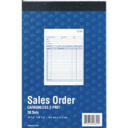 "60 Units of Sales Order Book, Carbonless, 5 9/16"" X 8 7/16"", 30 Sets , 60 Sheets - Sales Order Book"