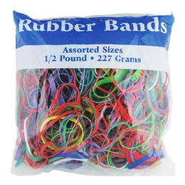48 Bulk Assorted Dimensions 227g/ 0.5 Lbs. Rubber Bands