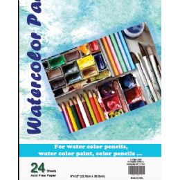 36 Units of Water Color Pad - 9 X 12 - 24 Sheets - Sketch, Tracing, Drawing & Doodle Pads