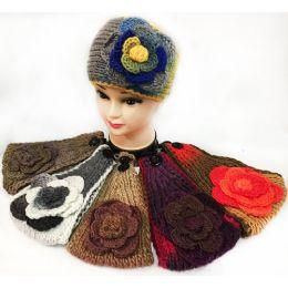 48 Units of Wholesale Tie Dye Effect Multicolored Flower Headbands - Headbands