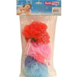 72 Units of 3pc Children Bath Sponge 20grams - Shower Accessories
