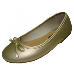 18 Units of Children's Ballerina Shoes Gold Color Only - Toddler Footwear