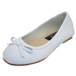18 Units of Toddler's Ballerina Flat Shoe White Color Only - Toddler Footwear