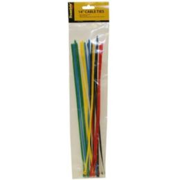 96 Units of 20 Piece 14 Inch Cable Ties Assorted Colors - Wires