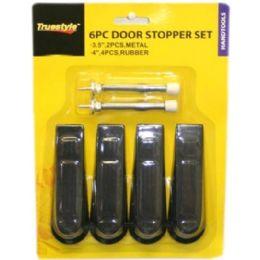 96 Units of 6 Piece Door Stopper Set Assorted Styles - Doors
