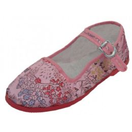 36 Units of Girls' Brocade Mary Janes ( Pink Color Only) - Toddler Footwear