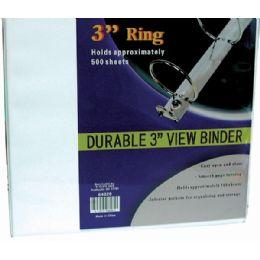 "8 Units of Binder - 3"" - View Thru - Assorted Colors - Binders"
