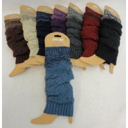 48 Units of Solid W Variegated Cuff Knitted Leg Warmer - Womens Leg Warmers