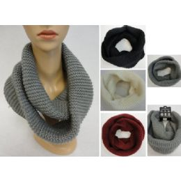 48 Units of Knitted Infinity Scarf [tight Knit] - Winter Scarves