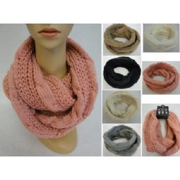 48 Units of Knitted Infinity Scarf [lg Cable Knit] - Winter Scarves