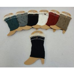 48 Units of Knitted Boot Cuffs [antique Lace/1 Button - Womens Leg Warmers