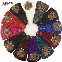 48 Units of Embellished Knit Headband - Headbands