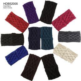 48 Units of Assorted Color Knit Headband - Headbands