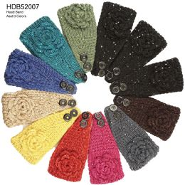 48 Units of Flower Knit Headband - Headbands