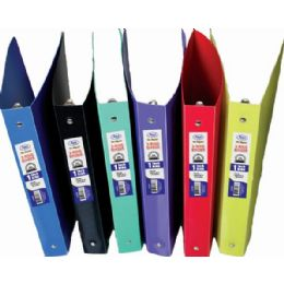 """60 Units of Poly Binder, 1"""" With Pocket, Elegant, Asst. Colors - Clipboards and Binders"""