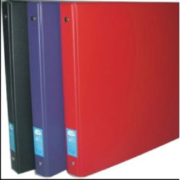 """48 Units of Vinyl Binder, 1.5"""", Asst. Colors: Black, White, Navy, Red & Green - Clipboards and Binders"""