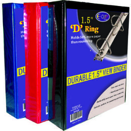 """36 Units of Binder - D Ring - 1.5"""" - Vinyl Assorted Colors - Clipboards and Binders"""