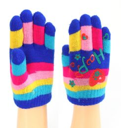 48 Units of Assorted Printed Children's Gloves - Knitted Stretch Gloves