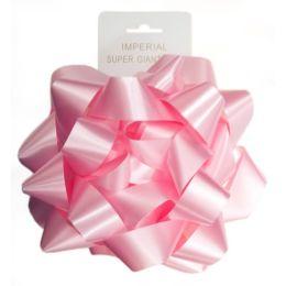96 Units of 9 Inch Bow Pink - Bows & Ribbons