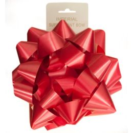 96 Units of 9 Inch Bow Red - Bows & Ribbons