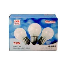 80 of 3 Piece Clear Light Bulbs 75 Watt