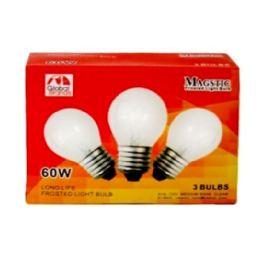 80 of 3 Piece Clear Light Bulbs 60 Watt