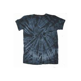 60 Units of Youth Black Spider Tye Dyed Tee Shirt - Boys T Shirts