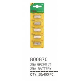100 Units of 23a 5 Piece Battery - Batteries