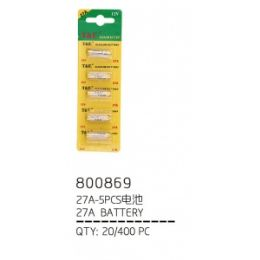 100 Units of 27a 5 Piece Battery - Batteries