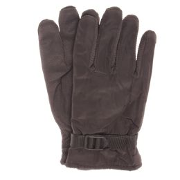 48 Bulk Adults Winter Water Resistant Gloves With Gripper