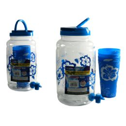 24 Units of Water Dispenser And 4 Piece Tumblers - Plastic Drinkware