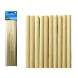 96 Units of Craft Wooden Dowel 10pc - Craft Wood Sticks and Dowels