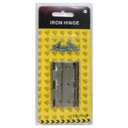144 Units of 2pc 2.5in Door Hinge Silver Color - Doors