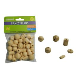 144 Units of 35pc Craft Wood Beads - Craft Beads