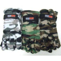 72 of Men Camouflage Fleece Gloves
