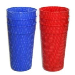 96 Units of 3 Piece Cups 28 Oz Assorted - Plastic Drinkware